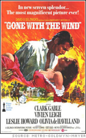 Gone with the Wind premieres