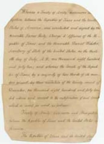 Texas government to negotiate a peace treaty