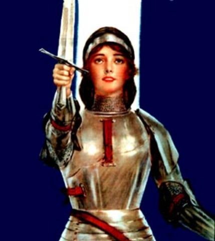 Joan of Ark- burned at stake