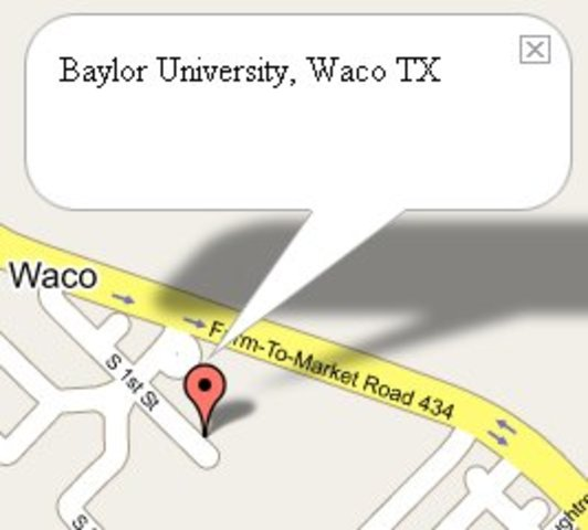 Baylor University is founded