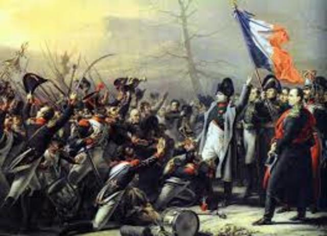 Napoleon defeated at Waterloo
