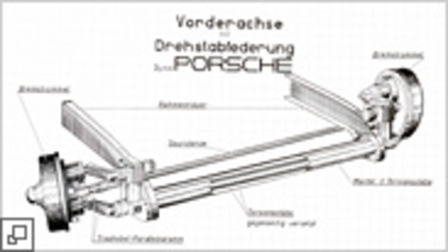 Torsion bar suspension