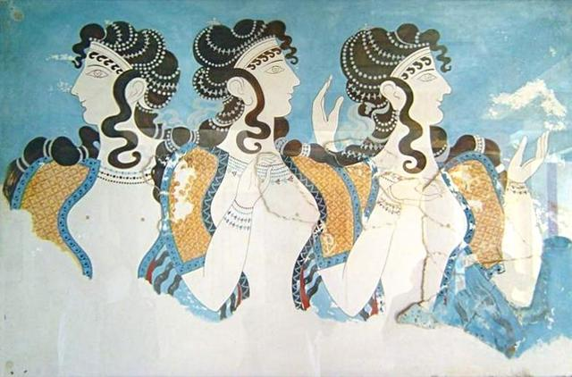 Minoan Queens Fresco