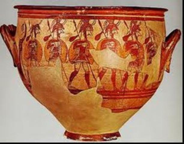 Warriors Vase