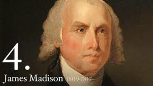 Madison became president in 1808