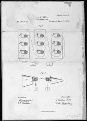 Bell patents telephone