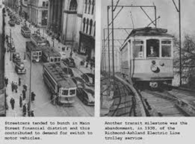 First electric trolley line, Richmond, VA