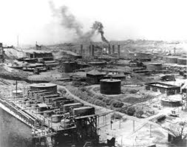 Rockefeller founds standard oil