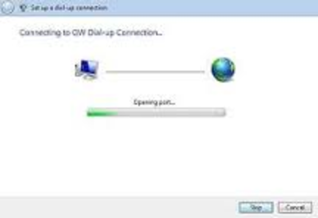 dial-up internet access