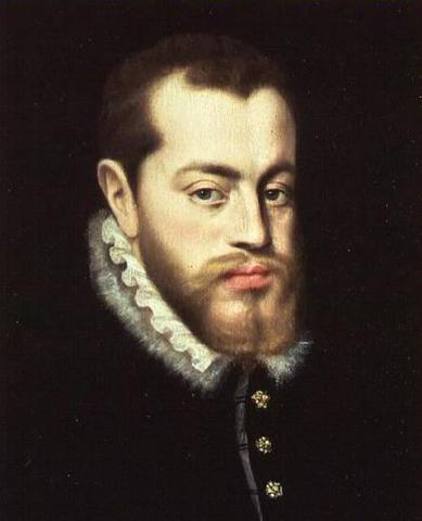Phillip II rules Spain
