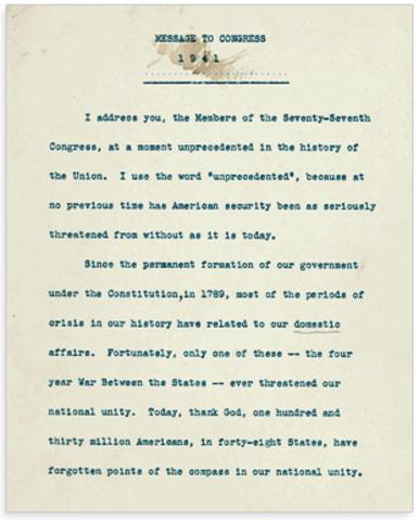 "President Roosevelt's ""Four Freedoms"" Speech (part 2 & citations)"
