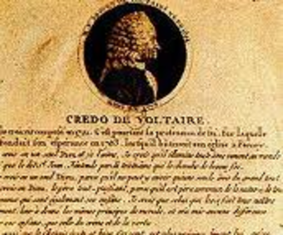 Cartas de Voltaire y Rousseau