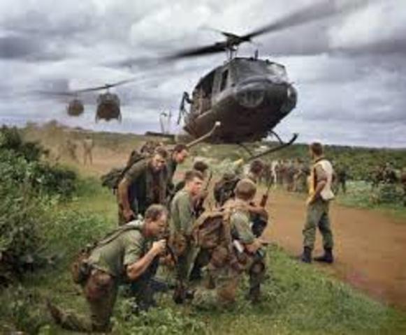 US sends troops to Vietnam