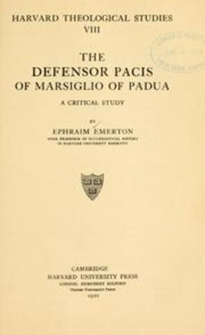Defensor Pacis,Marsiglio