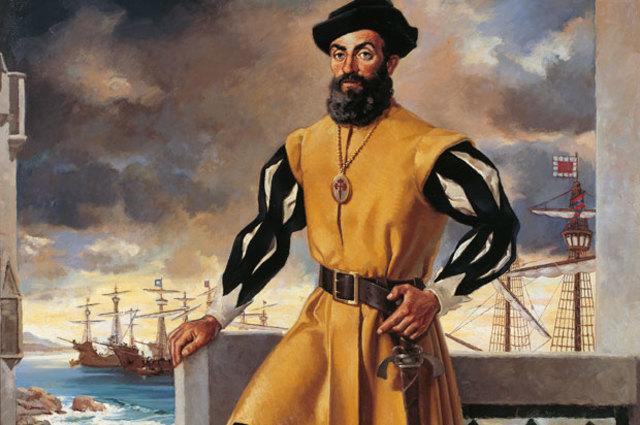 """Magellan Starts His """"Around the World Trip"""""""