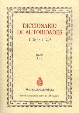 Publicación del Diccionario de Autoridades