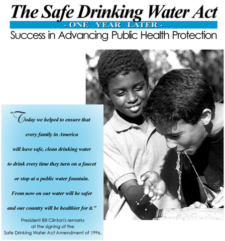 Safe Drinking Water Act is Passed