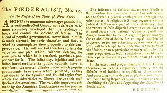 Federalist Paper No. 10