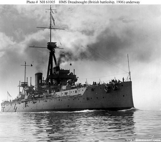 HMS Dreadnought built