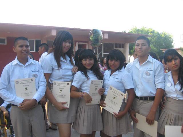 Graduacion de la secundaria.