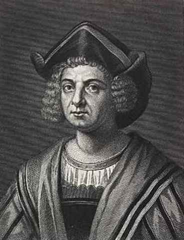 Christopher Columbus sails to the americas