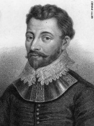 Sir Francis Drake of england sails around the world