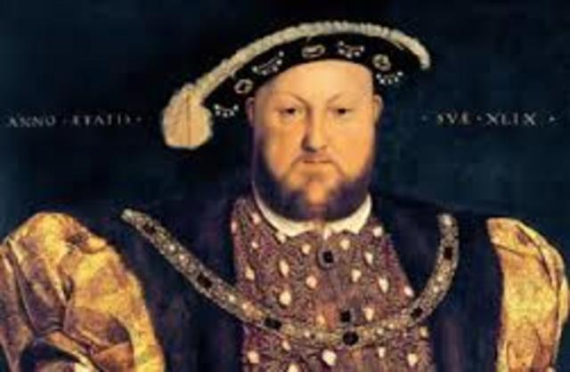 Henry VIII founds Anglican Chruch