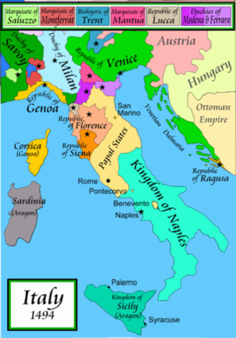 French Invade Italy