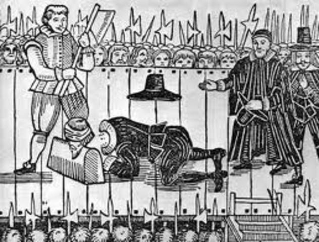 Charles I is executed and Cromwell came to power in England