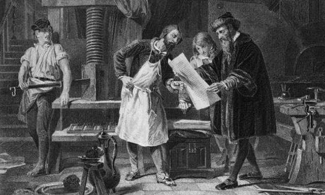 Johannes Gutenburg - printing press