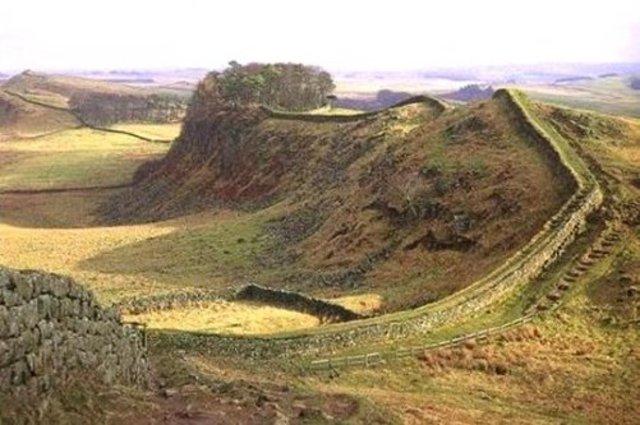 Hadrian's Wall begun