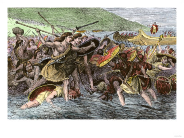 'Barbarian' raiders launch a coordinated attack on Roman Britain