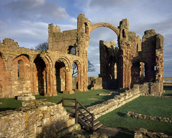 St. Aidan founded monastery at Lindisfarne
