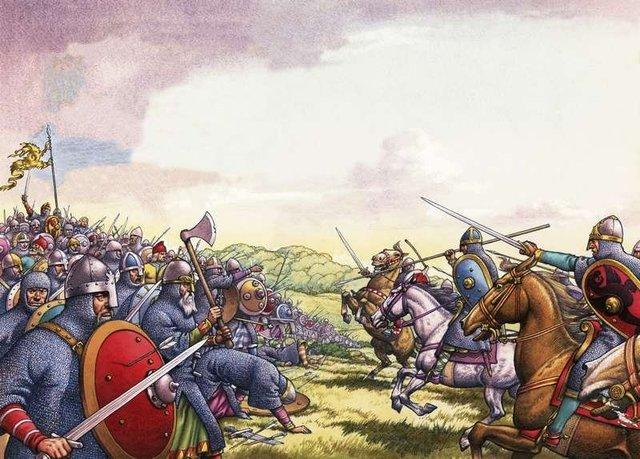 William of Normandy defeats and kills Harold II at Hastings
