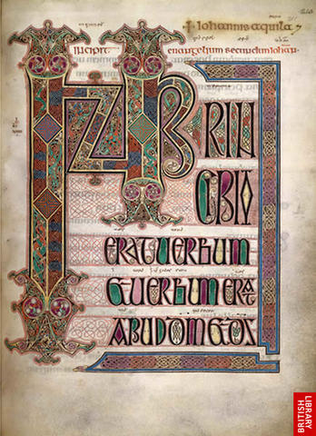 The Book of Kells and The Lindisfarne Gospels