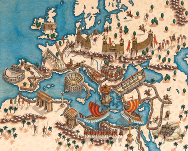 Caida del imperio Romano e inicio de la Edad Media
