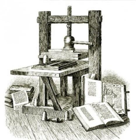Gutenberg crea la imprenta de tipos móviles