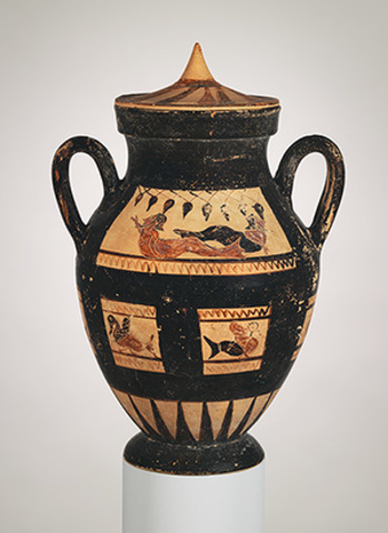 Amphora (Jar) with Lid