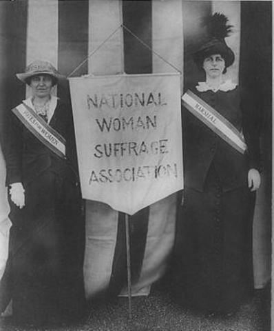 National Women's Sufferage Association formed in NYC