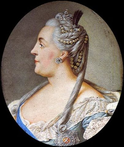 Catherine the great ruldes Russia