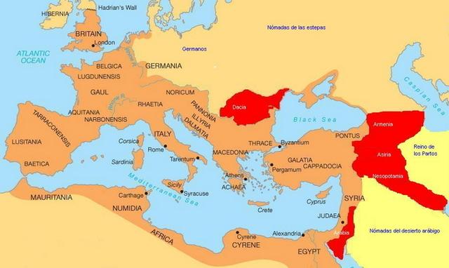 El Imperio Romano es invadido por oos pueblos germánicos