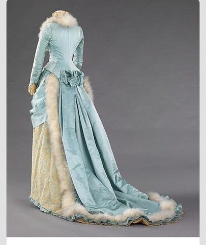 Feathery evening dress