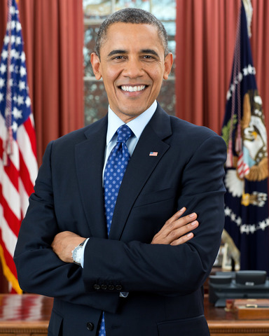 Barack Obama becomes the first African-American to be elected president of the US