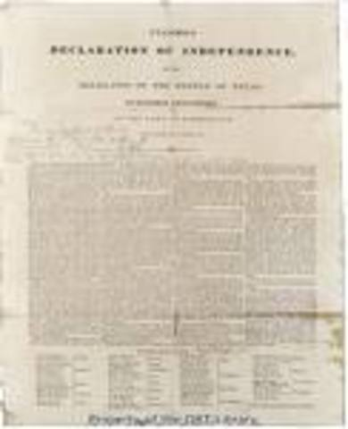 Declaration of Independence is Adopted.