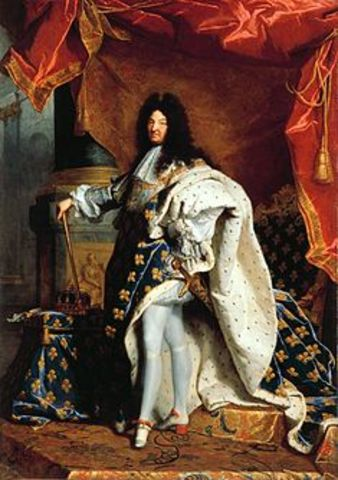 King Louis XIV becomes king of france
