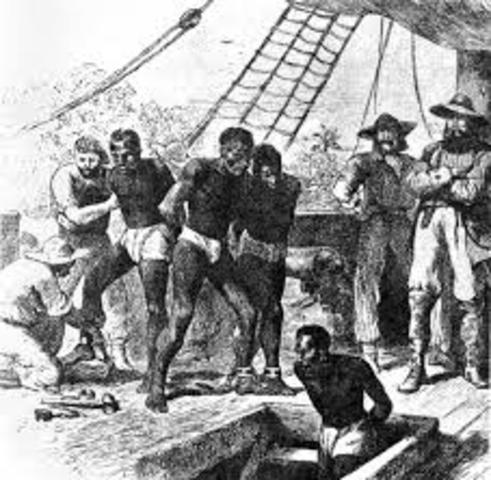 Slave trade across Atlantic