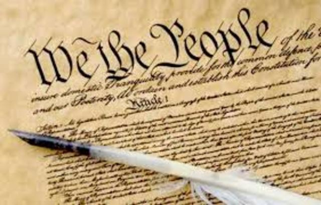 U.S. Consitution is ratified
