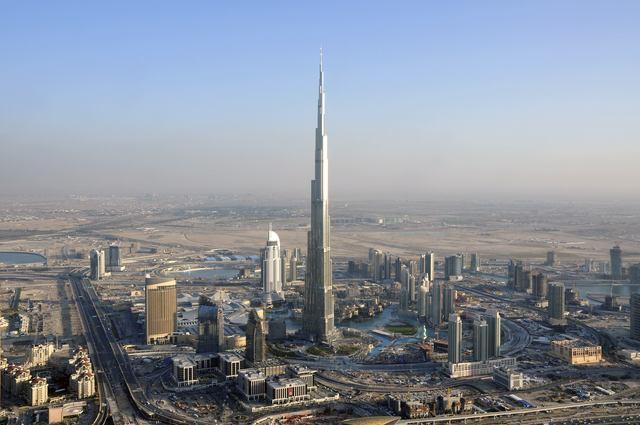 The Burj Khalifa opens