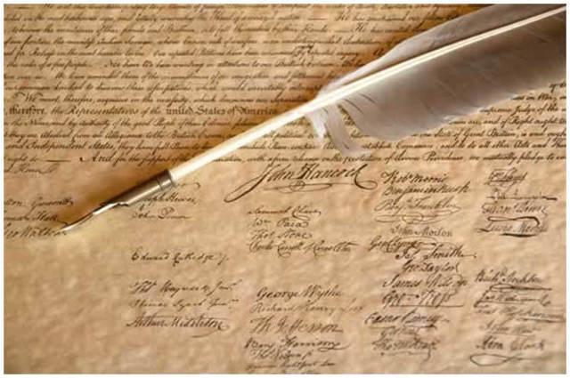 Declaration signed