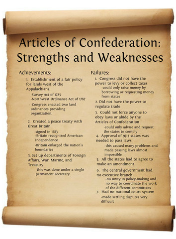 Article of Confedration